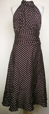 Coast Womens Silk Midi Dress, Size 16, Purple, 100% Silk, Good Condition   J6
