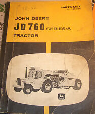 John Deere Jd760 Series-A Tractor Parts List Catalog Pc-1153 (Mar-69) Lot #69