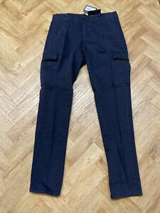 "C.P. COMPANY MENS TROUSERS CARGO PANTS NAVY MEDIUM (48) W34"" L32"" NEW #ER91"