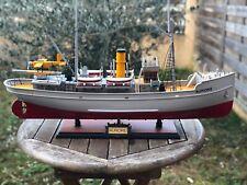 Tintin - Maquette du Bateau bois SUPERBE  Aurore - Etoile Mysterieuse 67cm - EO