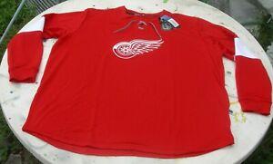 NEW REEBOK & NHL 3 XL MENS DETROIT RED WINGS JERSEY LIKE PULLOVER SWEATSHIRT
