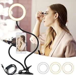 Selfie Ring Light, EyeGrab 360° Rotating with Mobile Phone Holder 3 Light Modes