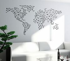 Wall Art World Map Atlas Travel Vacation Vinyl Sticker (z2821)