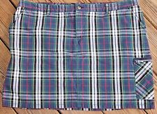 Vintage Tommy Hilfiger 5-Pocket Green Blue Yellow Plaid Skirt Plus Size 20 - AE