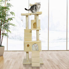 PawHut Condo Furniture Scratcher Post Pet Cat Tree Kitten Bed House Play Toy