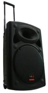 E-Lektron EL38-M 900W mobile PA Soundanlage Akku-MP3-USB-BT Mikrofone Rollkoffer