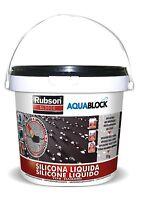 Liquido Impermeabilizzante Anti Goccia Nero 1 Kg Riparazioni Tetti Crepe Gronde