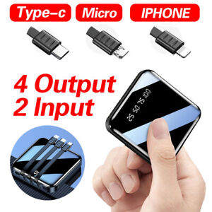 500000mAh Power Bank Universal 2USB Type C Fast Charge Portable Battery Charger