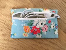 Handmade Earphone Earbud Zipped Case Pouch - Cath Kidston Clifton Rose Fabric