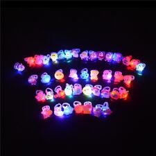 10 stücke Nette Kinder Kind LED Leuchten Blinkende Finger Ringe Glow Party  FBB