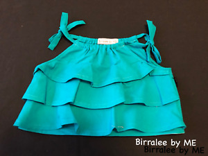 Lovely Flounce Top Handmade by Birralee by ME.Size 2
