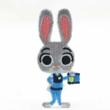 Movie cartoon Zootopia Judy Hopps rabbit Embroidered Iron On/Sew On Patch