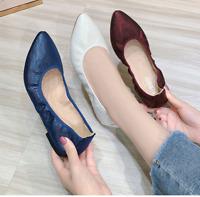 Ladies Fashion Pointed Toe Ballet Flats Women Spring Cpmfort Slip On Loafer Shoe