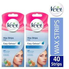 Veet Face Easy-Gelwax Hair Removal Wax Strips For Sensitive Skin Pack Of 40