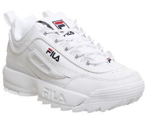 Uomo Donna FILA Disruptor II Scarpe sportive bianche Sneakers Running EUR 36-44