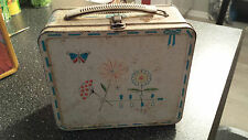 Vintage 1956   Metal Lunchbox   Lunch Box  with Thermos   Rare Aladdin