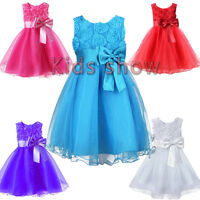 Girl Baby Party/Flower/Formal/Wedding/Princess/Prom/Bridesmaid/Christening Dress