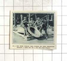 1917 Cargo Steamers Under Construction, Hawse Pipe Being Prepared