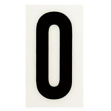"2x Sandleford SELF ADHESIVE NUMERAL ""0"" 85mm Peel & Stick WHITE/BLACK*AUS Brand"