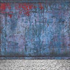 Blue Graffiti Wall Vinyl Photo Backdrops Photography Background 8x8FT