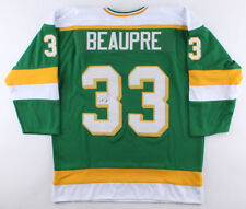 Don Beaupre Signed North Stars Jersey (JSA COA) Playing career 1980–1997 e5d6631b8