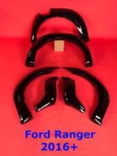 Ford Ranger 2016 + T6 Facelift Raptor Wheel Arch Kit - Fender Flares GLOSS BLACK