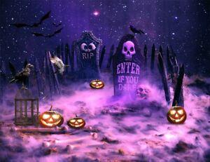 Halloween Spooky Night Pumpkin Witch Alchemy Vinyl Backdrop Photo Background LB