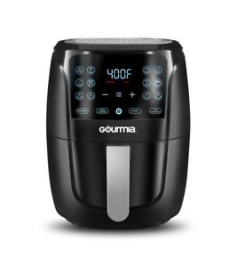 Gourmia 6-Quart Digital Air Fryer with Guided Cooking, Easy Clean, Black