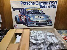 Entex Porsche Carrera RSR Turbo 935 1/8 Scale Model Plastic Kit Started Complete