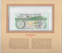 Most Treasured Banknotes Guernsey 1 pound 1980 P-48a UNC BULL Prefix C