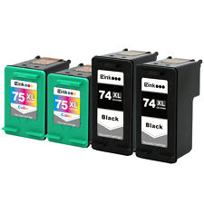 4PK HP 74 XL 75 XL CB336WN CB338WN Ink Cartridge Combo Set