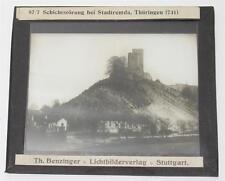 Stadtremda, antikes Lichtbild Glasplatte ca. 1920 #E873