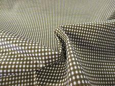 "Brown Square Checked/Check 100% Cotton Fabric. 58"" Wide."
