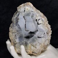 "5"" Large Blue Botryoidal Chalcedony Crystal Geode Quartz Kentucky Natural 2.1Lb"