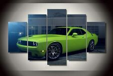 Dodge Challenger car Canvas Print poster decor in 5 pieces