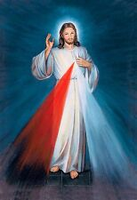 Divine Mercy Jesus POSTER A3 Sacred Heart of Jesus image picture Catholic print