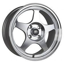 MST Wheels MT29 Rims 15x6.5 4x100 +35 Offset 73.1CB Machined Silver Finish NEW