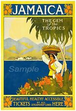 Vintage Jamaica Joya de los trópicos viajes A3 cartel impresión