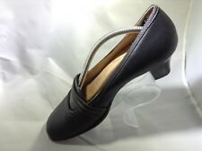 Softspots Black Leather Mary Jane Heels Womens Shoes Size 7M Excellent Condition