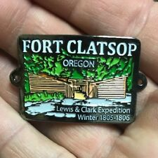 Fort Clatsop Oregon Lewis And Clark Hiking Medallion, Shield, NEW! Rectangle