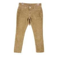 Levis Womens sz 29 Tan Corduroy Slim Leg Casual Pants
