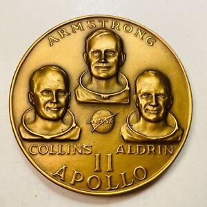 1969 Man's First Lunar Landing Apollo 11 Armstrong & Aldrin Medal MACO 63mm