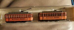 Model Power Brill Trolley With Dummy N Scale Train Box Car Public Service