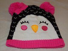Penguin Winter Skully Cap Gloves Lot 2pc Cuff Beanie Hat Set NEW Girls Kids OSFM