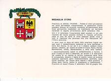 X653) RESISTENZA, MEDAGLIA D'ORO AL VALORE ALLA PROVINCIA DI ASCOLI PICENO.