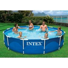 """Intex 12' x 30"""" Metal Frame Above Ground Pool with Filter Pump Brand New In Box!"""
