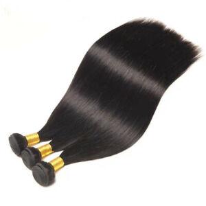 Brazilian Human Hair Extensions,Weft Virgin Hair, 1B Natural Black, Brand New