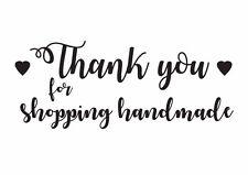 Gracias por hacer compras hecho a mano Sello De Goma/Etiquetas/artesanía/sobre De Embalaje