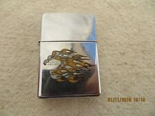HARLEY DAVIDSON Logo & Flame Polished Chrome Lighter Used