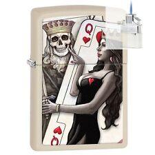 Zippo 29393 King & Queen of Hearts Lighter & Z-PLUS INSERT BUNDLE